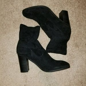 Suede heeled boots. 60% off!!!